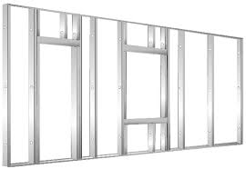framing an interior wall. Wall Panels Are Made From C-studs Fastened Between An Upper And Lower Track. Framing Interior