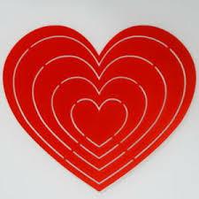 Das herz liegt hinter dem brustbein. Herz Schablone 5 Grossen In Einer Herzform 20 Cm Breit Ebay