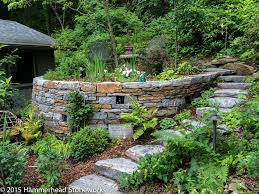 faerie garden. Stone Steps Lead Up To The Faerie Garden In Fairview, North Carolina.