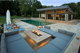 image of outdoor deck fireplaces gas