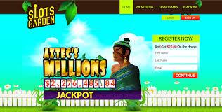 slots garden slots garden aztec s millions jackpot