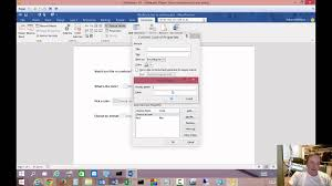 How To Add A Drop Down Box In Word How To Create Fillable Forms In Microsoft Word 2016 Youtube