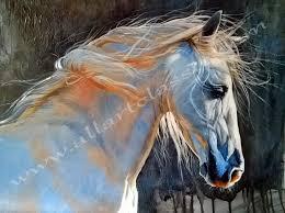 original wall art horse portrait oil painting