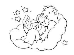 Small Picture Bedtime Bear is Sleeping Tight in Care Bear Coloring Page Bedtime