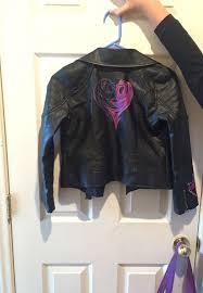 disney descendants mal s leather jacket size 7 8