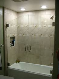 innovative sliding tub shower doors with shower enclosures manhattan manhattan shower enclosures