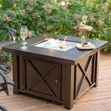 uniflame fire pit. Unique Uniflame Fire Pit Table Endless Summer Slate Mosaic Propane With Free Cover C