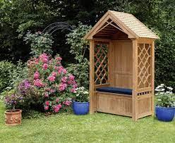 teak garden arbour bench garden