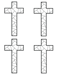On The Cross Coloring Page Free Pages Children Of Jesus