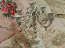 shabby chic chandelier candle holder