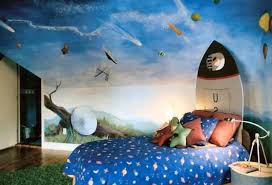 add some wall mural solar system bedroom decor