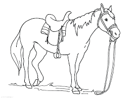 Horse Coloring Pages To Print Mustang Horses Clydesdale Contencyco