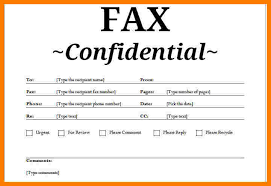fax cover sheet template word 7 confidential fax cover sheet template ledger review