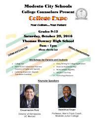 joseph a gregori high school mcs collge counselors present college expo