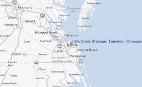 Little Creek Railroad Terminal Chesapeake Bay Virginia