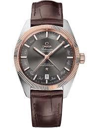 omegamens constellation globemaster leather strap watch 130 23 41 22 06 001