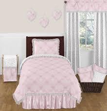 pink and gray alexa erfly 4pc twin girls bedding set by sweet jojo designs