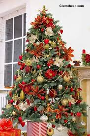 Red And Green Christmas Tree Decorations White Christmas Tree With Red And  Green Decorations Happy Holidays