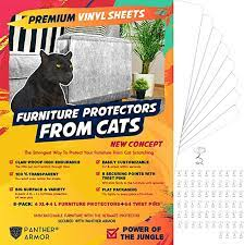 Panther Armor 8 Eight Pack Furniture Protectors From Cat Scratch Couch Guards For Cats 4 Pack Xl 17 L 12 W 4 Pack Large 17 L 10 W Cat Scratch Deterrent Couch Corner