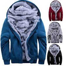 details about plus size winter fleece warm fur lined hooded jacket zipper coats sweatshirts