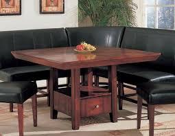 black leather nook dining set