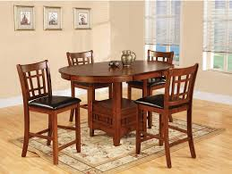 The Brick Dining Room Furniture Dalton 5 Piece Oak Counter Height Dining Package The Brick