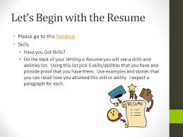 skills and ability resumes cover letter resume and references ppt video online download