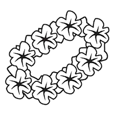 Luau Coloring Pages Birthday Printable And