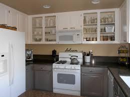 image of painting oak kitchen cabinets white