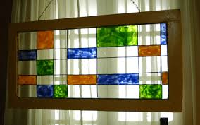 window do over faux stained glass