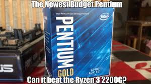 <b>Intel Pentium Gold</b> G5400 Review (Vs Ryzen 3 2200G) - YouTube