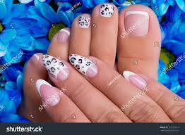 Beautiful Womans Nails Hands Legs Beautiful Stock Photo 351273914 ...