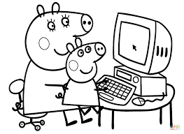Small Picture Peppa with Mummy coloring page Free Printable Coloring Pages