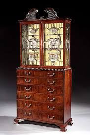 english antique display cabinet. A GEORGE III MAHOGANY SECRÉTAIRE DISPLAY CABINET. English Antique Display Cabinet O