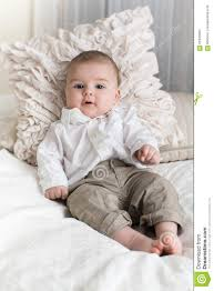 Cute Baby Boy With Big Blue Eyes Stock Photo Image Of Life
