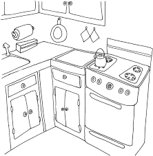 Small Picture Kitchen and cooking Coloring Pages Coloringpages1001com