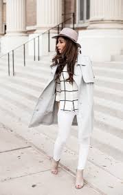an all white outfit will be utterly transformed by a classic white trench jessi