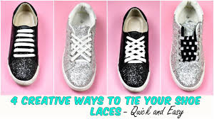 4 <b>Creative</b> WAYS To Tie Your Shoe Laces | Quick and <b>Easy</b> - YouTube