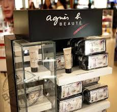 agnès b beauty display at hong kong international airport