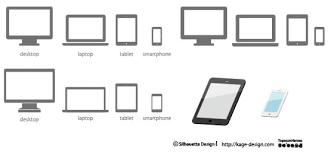 レスポンシブwebデザイン用アイコンセット シルエットデザイン