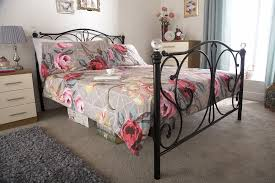 gfw furniture panache 4ft6 double black metal bed frame from 149