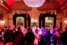 Exclusive Christmas party at Plaisterers' Hall London guests dancing