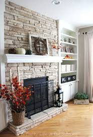 my fall mantel a pretty life in the suburbs faux stone electric fireplace canada