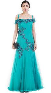 Off Shoulder Designer Suits Designer Frozen Net Off Shoulder Gown Suit Suuds51930