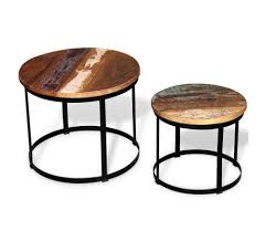 vidaxl two piece coffee table set solid