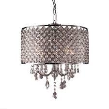 Kristall Hängeleuchte Lampenschirm Kronleuchter Deckenlampe Lüster Pendelleuchte Zylindrisch Hängelampenschirm E14 Keine Glühbirne Enthalten