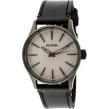 nixon men s sentry 38 leather a377486 black quartz fashion watch image 1 of 1 zoomed image