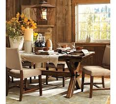 pottery barn toscana dining table with bench