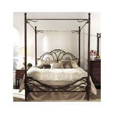 wrought iron king bed. Antique Metal King Poster Bed Frame Wrought Iron Canopy Headboard Footboard Set E
