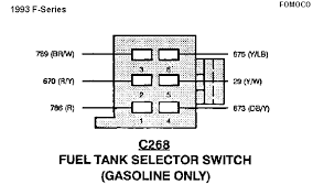 need help a short in fuel pump electrical ford truck 1993f seriesfuelselectorswitchconnector gif